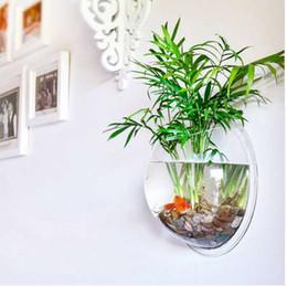Украшения дома прозрачные растения цветочный горшок настенные вазы крепление пузырь Аквариум чаша Аквариум аквариум XP0353 supplier wall hung fish tanks от Поставщики настенные баки для рыбы