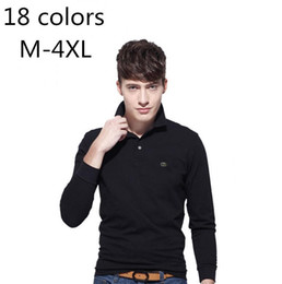 long sleeve polo style shirts Promo Codes - New Casual Polo Shirt Men New style Crocodile Embroidery LOGO Long-Sleeve Mens Polos New Arrival Fashion Polo Shirts Man Hot-Sale Slim Polo