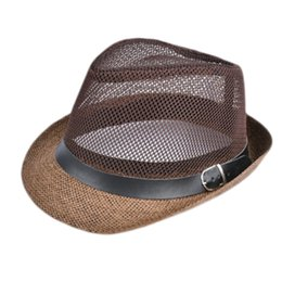 ded8fff6cc451 summer beach straw hat Coupons - Summer Straw Bucket Hat For Male Jazz  Visor Cap For