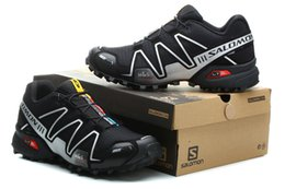 Wholesale blue camp - Salomon Speed cross 3 CS III Black Silver Men Outdoor Crosspeed 3 Running shoes sneakers size 40-46
