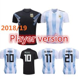 Wholesale Messi Football Player - Player version 2018 world cup Argentina Soccer Jersey Argentina#10 MESSI soccer shirt #21 DYBALA #9 AGUERO Football shirt maillot de foot
