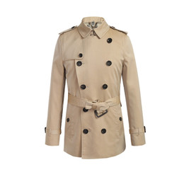 2019 doppio petto giacca impermeabile Giubbotto doppio petto all-over uomo  in cotone impermeabile soprabito 5a2db09f221
