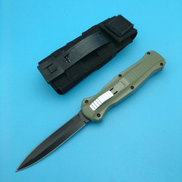 Wholesale 58 hrc - BM 3300 knife 58-61 HRC out the Double Action Auto 3300 D2 steel spear front point Plain Tactical knife knives