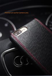 Яблочные узоры онлайн-Чехол для iphone 7 Luxury Cross Pattern Кожаный чехол для iphone 7 plus Ультра тонкий моды для 4,7 / 5,5 дюймов
