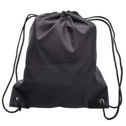 2019 la bolsa de asas del gimnasio del poliéster ABDB-6 Pack Drawstring Backpack Bags, 420D poliéster Plegable Hombro Saco Cinch Bag para Picnic Gimnasio Deporte Playa Viaje Sto la bolsa de asas del gimnasio del poliéster baratos
