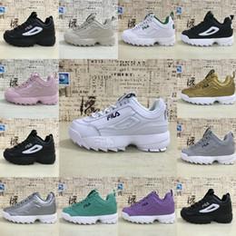 new style 1b51f df843 FILA Top 2 zapatillas casuales de cuero para hombres mujeres moda plata oro  verde gris púrpura blanco al aire libre zapatillas 36-44