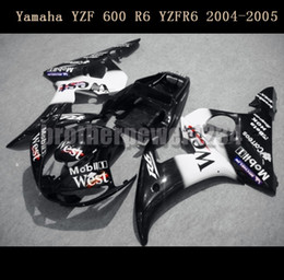 Wholesale Motorcycle Plastic Yamaha R6 - Motorcycle ABS Plastic Painted Injection Mold Bodywork Fairing Kit Set For Yamaha YZF 600 R6 YZFR6 2004 2005