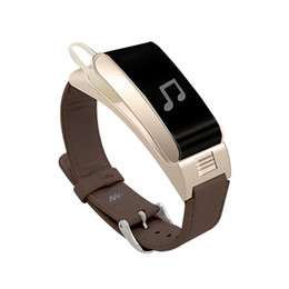 Wholesale Talk Band - Wholesale A9 Smart Bracelet Talk tand Band Bluetooth Headset bracelet with Pedometer Music Sleep Monitor for Android IOS