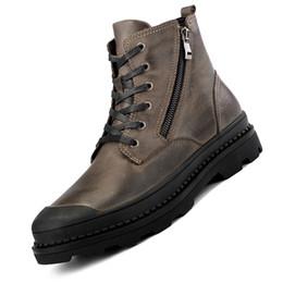 83ae2aaf1 Estilo Vintage Homens Botas De Couro Natural Outono E Sapatos de Inverno  Sapatos de Salsa Sapatos de Trabalho à prova d 'água Dos Homens Qualidade  Ankle ...