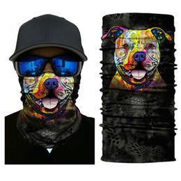 Wholesale biker scarfs - Skull Face Mask Motorcycle Ski Biker Neck Ghost Mask Bandana Balaclava Headwear Outdoor Sports Windproof Mask Warm Scarf