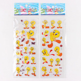 Wholesale Calendar Notebook - 3D Sponge Bubble Sticker 100pcs Cartoon Yellow Duck Kids Toy Notebook Album Calendar Memo DIY Stickers Children Gift