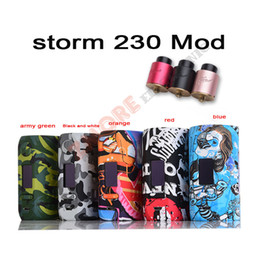 Wholesale Vapor Storm - Original Vapor Storm 5-200W VW Storm230 Bypass TC Box Mod Vapes Fashion Mod Support Dual 18650 Battery Electronic Cigarette RDA RBA RDTA DHL