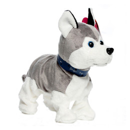 Wholesale Interactive Pet Toys For Kids - Electronic Pets Sound Control Robot Dogs Bark Stand Walk Cute Interactive Dog Electronic Husky Poodle Pekingese Toys For Kids