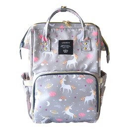 Wholesale Wholesale Nappy Bag - 4 Colors Unicorn Mommy Backpacks Nappies Bags Unicorn Diaper Bags Backpack Maternity Large Capacity Outdoor Travel Bags CCA9269 5pcs