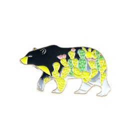 lovely bear jewelry Coupons - Cartoon Bear Shape Enamel Brooch Lovely Animal Colorful Collar Lapel Pin Fashion Jewelry