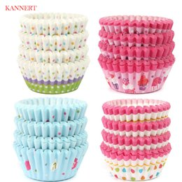 Wholesale muffins paper tray - KANNERT 100Pcs High Quality Round shape Paper Muffin Cases Cake Cupcake Liner Baking Mold Bakeware Maker Mold Tray Baking