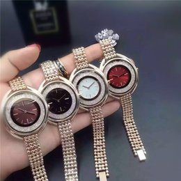 2019 relojes de cristal completo de las mujeres 2018 Rolling Crystal Luxury Fashion ladies dress relojes Famosa marca full Diamond Jewelry Rose oro Mujeres reloj de Alta Calidad envío gratis relojes de cristal completo de las mujeres baratos