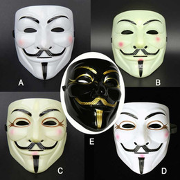Wholesale Guy Fawkes V For Vendetta - Halloween Party 5 Style Vendetta V word Mask Costume Guy Fawkes Anonymous Halloween Masks Fancy Cosplay