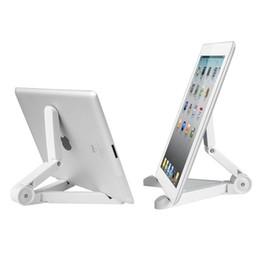 Canada UP-4 Pliant Portable Tablet Stand Angle de vision Réglable 7-10 pouce Tablettes Titulaire pour iPad Air Mini 1234 Noir Blanc supplier white ipad stand Offre