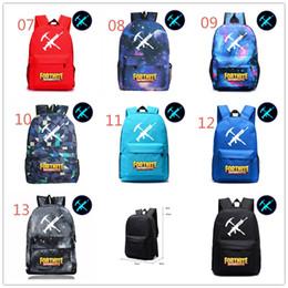 Wholesale character toys wholesale - Glowing In Dark School Bag Kids Gift Bag Luminous Backpacks Bags Book Rucksacks Game Fortnite Action Figure Toys For Kids Gifts