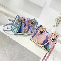 Bolsas de mano transparentes del holograma señoras 2018 nuevo bolso del crossbody del laser de la manera Bolsas de mujer grandes del totalizador del PVC de la muchacha Bolso Mujer desde fabricantes