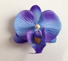 Argentina 200 UNIDS 5 cm de alta planta de simulación mini cabeza de la orquídea de mariposa Decoración de la boda nupcial inserto de DIY flor de la cabeza de flor Suministro