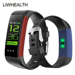 montres couleur cool Promotion Cool Couleur Smart Watch Moniteur de Fréquence Cardiaque Activité Tracker Horloge Sommeil Santé Fitness Bracelet Smartwatch Pour IOS / Lenovo / Xiaomi