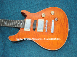 Wholesale Left Hand 12 String Electric - 12 Strings Orange Wave Electric Guitar Birds Inlay Wholesale Guitars High Quality OEM Cheap