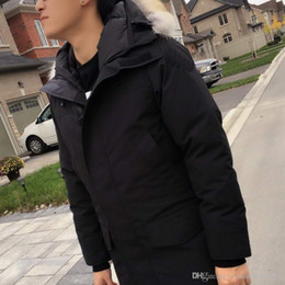 Wholesale Ford Buttons - Winter Long Down Parka Lang Jacket ford Men Brand Designer Thick Coat Man Clothes Raccoon Fur Collar Hood Down Parkas outlet High Quality
