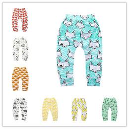 Wholesale girls printed leggings wholesale - Infants cartoon patterns printing pants cute cactus bears watermelon lemon geometry pattern toddlers leggings 4 sizes for boys girls baby B1