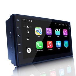 Wholesale Dvr Mobile Phone - Android 6.0 Universal Head-unit 7inch Quad Core 1024*600 Android Car GPS Navigation Multimedia Player Radio Bluetooth Wifi DVR Ready