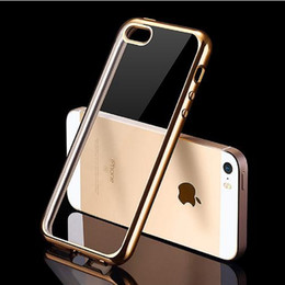 Wholesale Iphone 5s Mm - Luxury Silicone Case For iPhone 5   5S   SE Transparent Cover 0.5 mm Ultra Slim Coque Fundas For iPhone 8 7 6S 6 Case