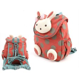 Wholesale plush bear backpack - Bags backpack anti lost children girls boy kids Backpacks baby safety canvas harness toddler cartoon bear Toys Plush cute infant