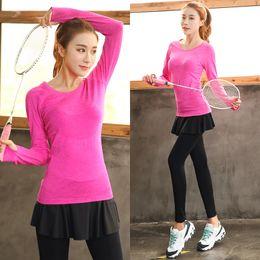 b1ec0d33e90318 Plus Size Sportbekleidung Pant + Top Workout Kleidung Workout Gym große  Größe Sport Run Girl Slim Yoga Übung Tight Bodybuilding Female günstig  mädchen ...