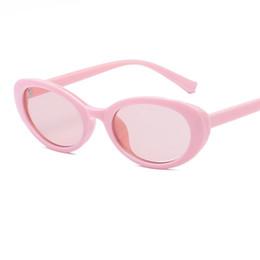 Gafas rosa baratas online-gafas de sol de color rosa gafas vintage para mujeres gafas de sol de moda oval pequeño marco de plástico gafas de sol hombres lindos gafas de moda 2018