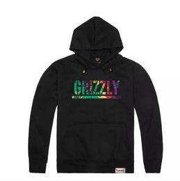 Diamond supply sweatshirt online-Nueva Grizzly sudaderas con capucha Diamond Supply mens Graphic Sweatshirt grizzly marca cuello redondo sudadera con capucha gruesa envío gratis