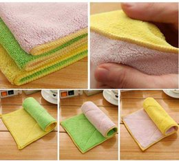 Wholesale Dish Washing Cloth - Microfiber Dish Cloth Cleaning Towel Kitchen Washing Cloth Towels Two Side Scouring Pad 5 Colors DDA263