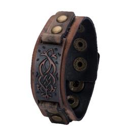 Leder steampunk armbänder online-Hochwertige gewebte Retro Lederarmband Antik Unisex Zubehör Steampunk Style Armband Schmuck