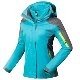 womens winter ski jackets Coupons - Womens Waterproof Hiking Jacket Outdoor  Windproof Breathable Reflective Coat Female 43551601d