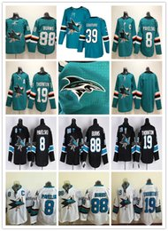 Wholesale Purple Joe - AD 2018 San Jose Sharks Hockey Jerseys Ice 8 Joe Pavelski 88 Brent Burns 19 Joe Thornton 39 Logan Couture Green Black White Stitched Cheap