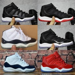 toddler boy thanksgiving Promo Codes - Kids 11 11s Space Jam Bred Concord Gym Red Basketball Shoes Children Boy Girls 11s Midnight Navy White Pink Sneakers Toddlers Birthday