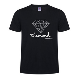 Wholesale diamond supply shirts free shipping - New Cotton Mens T Shirts Fashion Short-sleeve Printed Diamond Supply Co Male Tops Tees Skate Brand Sport Clothes Clothes Free Shipping