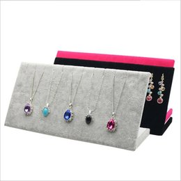 Wholesale Wooden Jewelry Display Stands - Lanolin Jewelry Display Jewelry Necklace Earring Display frame 25cm * 8.5cm * 11.5cm L