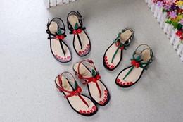 Suela de tela sandalias online-Último logotipo de lujo Para mujer belleza cuentos de hadas zapatos planos estilo casual suela de cuero de vaca perfecta abeja perla Tela Sandalias 35-40