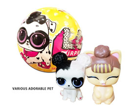 Wholesale Novelty Dog Gifts Toys - LOL pet Surprise Dolls Toys 10cm Cartoon Pet Dog PVC Action Figure Toy lol Doll Toys Kids Educational Toys Girl Birthday Gift Christmas