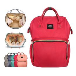 Wholesale Bags Mom - LAND Mommy Diaper Bag Large Capacity Baby Nappy Bags Desiger Nursing Bag Fashion Travel Backpack Baby Care Bebek For Mom Dad