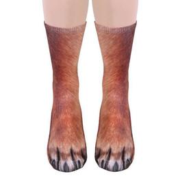 Wholesale Art Prints Animals - 2018 Super cool special socks 3D printing Animal foot hoof socks Adult digital imitation socks Unisex Adult Animal
