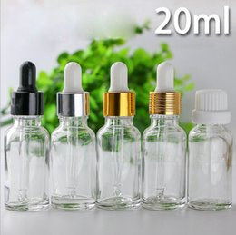 Wholesale Glass Bottles For Liquid Cosmetics - Hot Selling 624pcs lot Clear Cosmetic Glass Packaging Glass Bottles 20ml For Essential Oil Ejucie E liquids