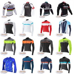 Wholesale Yellow Thermal Shirt - BORA CAPO team Cycling Winter Thermal Fleece jersey High Quality Long Sleeve Cycling Clothing Set Outdoor Bicycle Clothing D1021