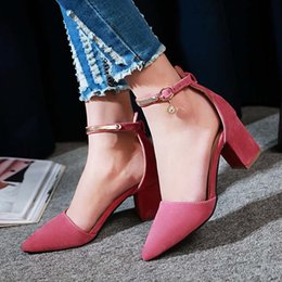 Wholesale small yards - Korean version of 31-33 small sandals hollow with a sharp head and high heels 40-43 yards of women's shoes